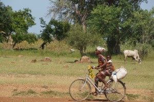 Yua woman on bike